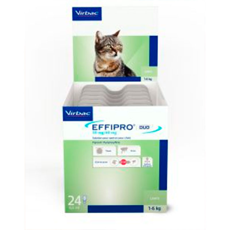 Antiparasitario Externo Effipro duo sport on gatos