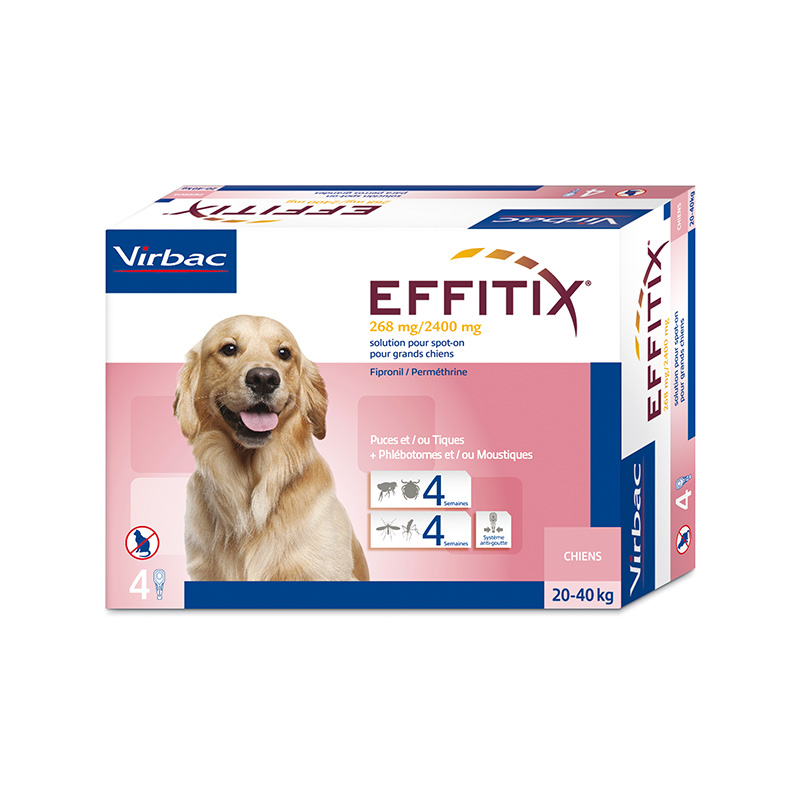 Effitix Pipettes for dogs 20-40 kg