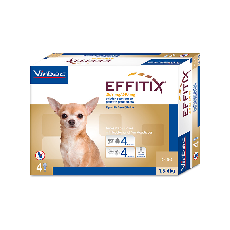 Effitix Pipettes for dogs 1,5-4kg