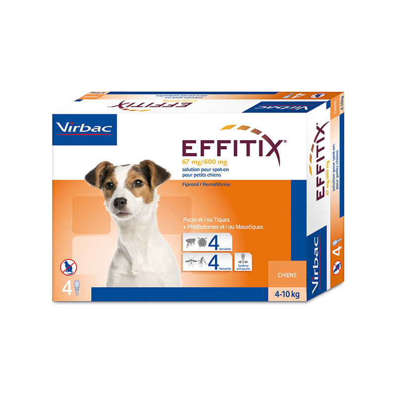 Effitix Pipettes for dogs 4-10kg