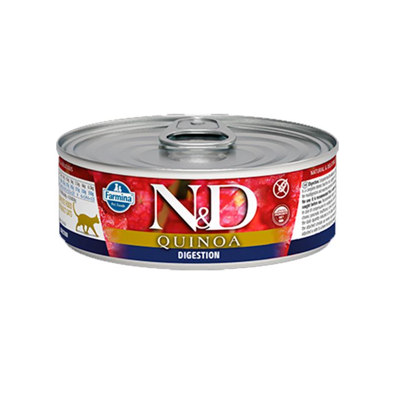 Farmina N&D Grain Free Quinoa Feline Digestion Lamb Can