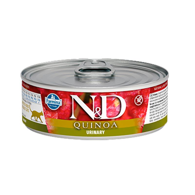 Farmina N&D Grain Free Quinoa Feline Urinary Duck Can