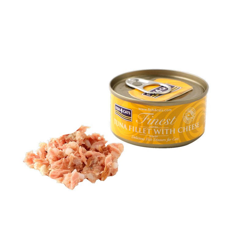 Fish4Cat Can Tuna Fillet with Cheese 70g