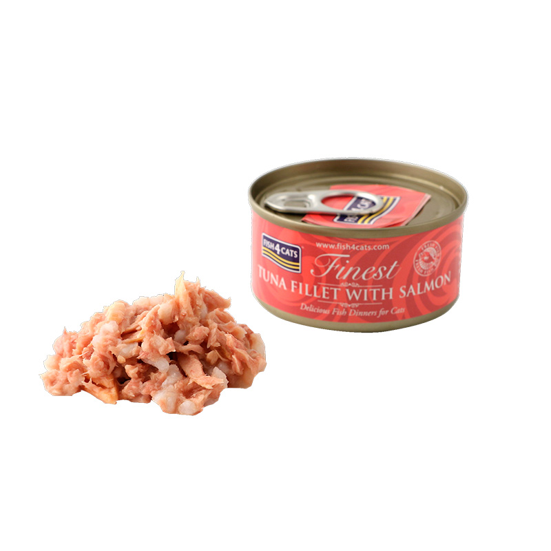 Fish4Cat Can Tuna Fillet with Salmon 70g