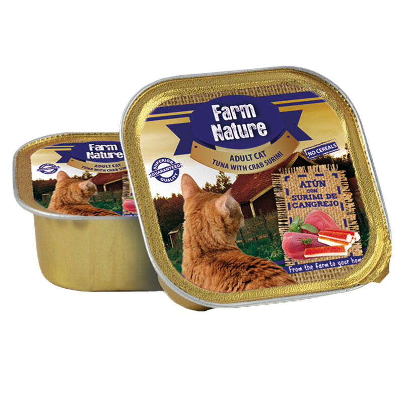 Farm Nature Adult Cat Tuna with Crab Surimi. Wet food cats