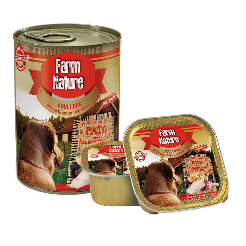 Farm Nature Adult Duck with Apricot &Truffle. Wet food dogs.