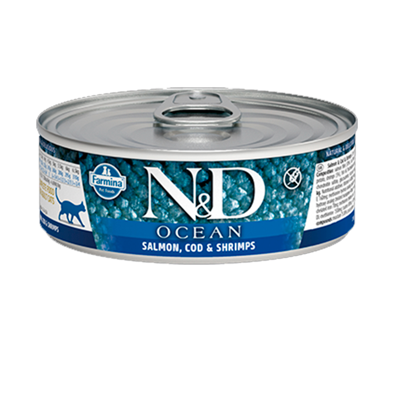 Farmina N&D Grain Free Ocean Cat Salmon & Cod Can