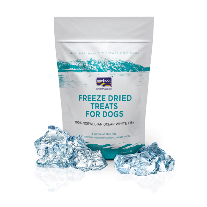 Treats Fish 4 Dogs Freezed Dried for Dogs 25gr
