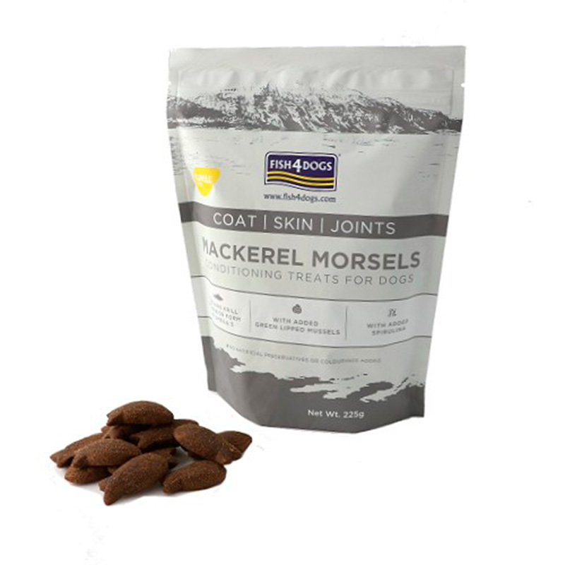 Fish 4 Dogs Premios Mackerel Morsels Coat Skin Joints