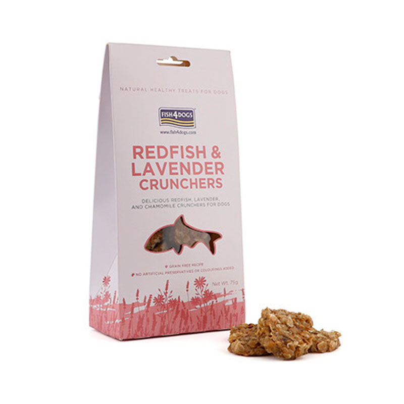 Fish4Dogs Redfish and Lavander Crunchers 75 gr