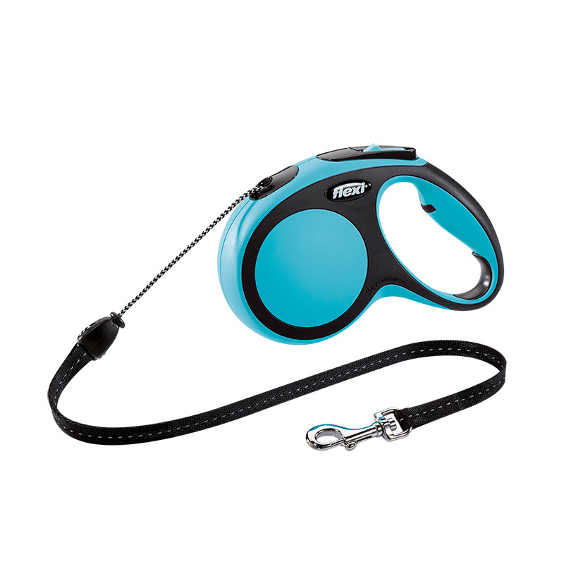 Retractable Leash flexi NEW COMFORT Basic Long Blue