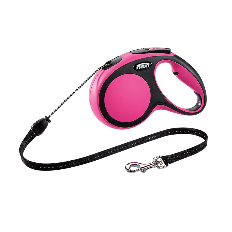 Retractable Leash flexi NEW COMFORT Basic Long Fucsia