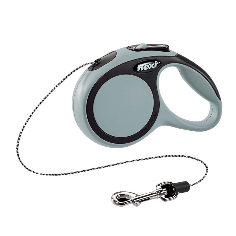 Retractable Leash flexi NEW COMFORT Basic Anthracite