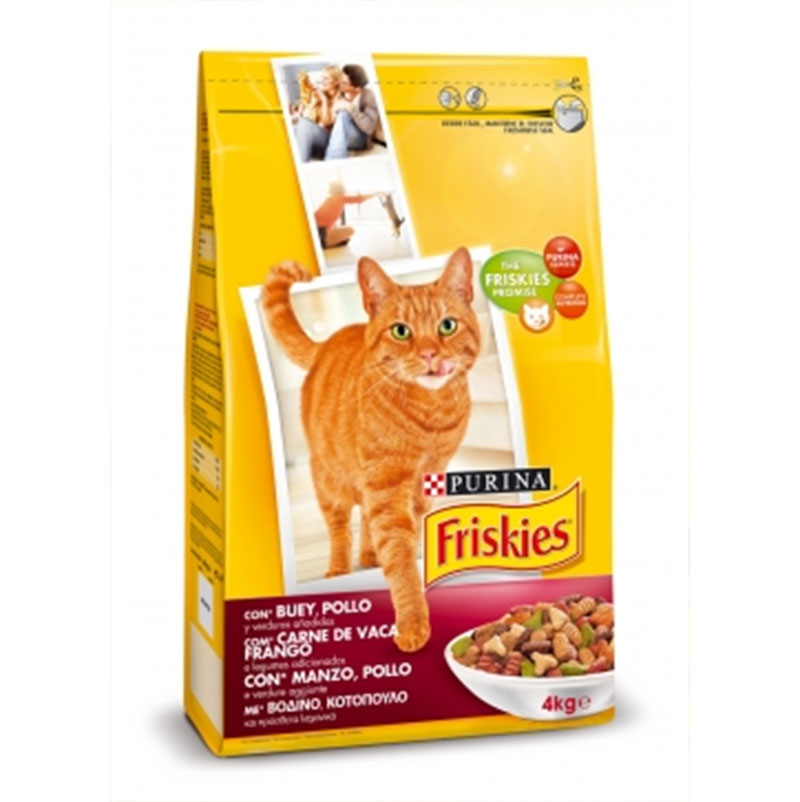 Friskies Cat Adult Ox Chicken and Vegetables