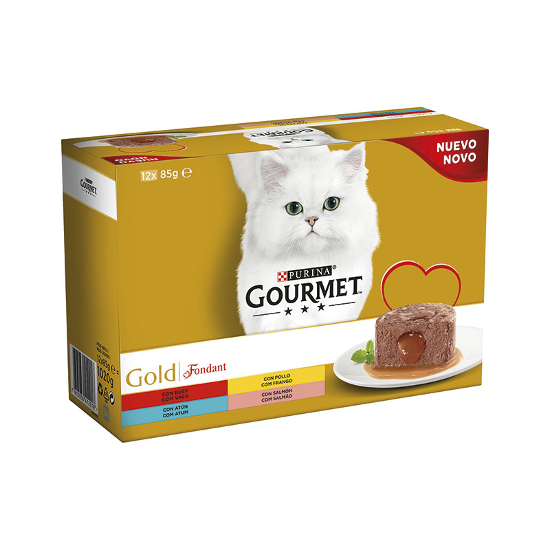 Gourmet Gold Fondant Multipack Sabores 12x85gr