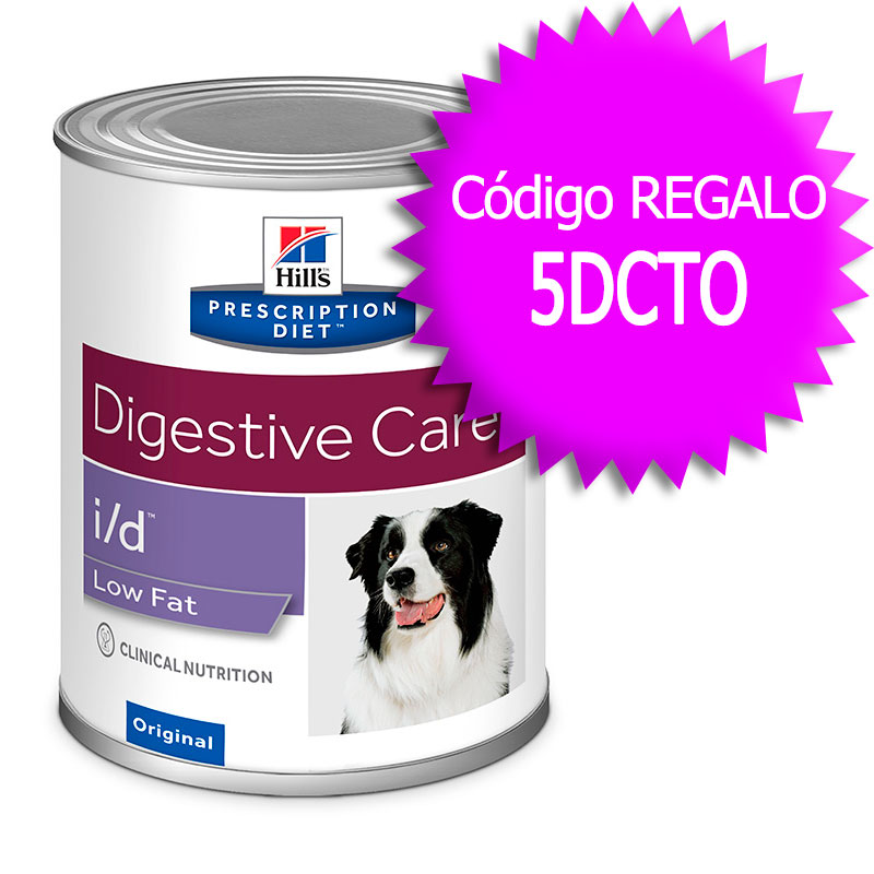 Hill's Canine i/d Low Fat Lata 360gr+Cupón