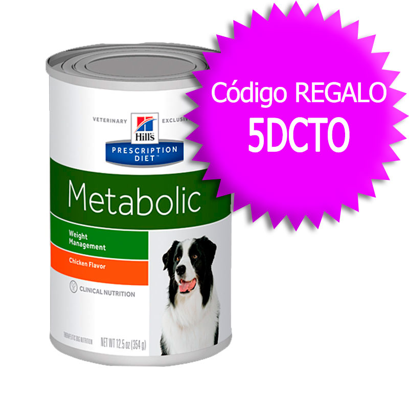 Hill's Canine Metabolic Lata 370gr+Cupón