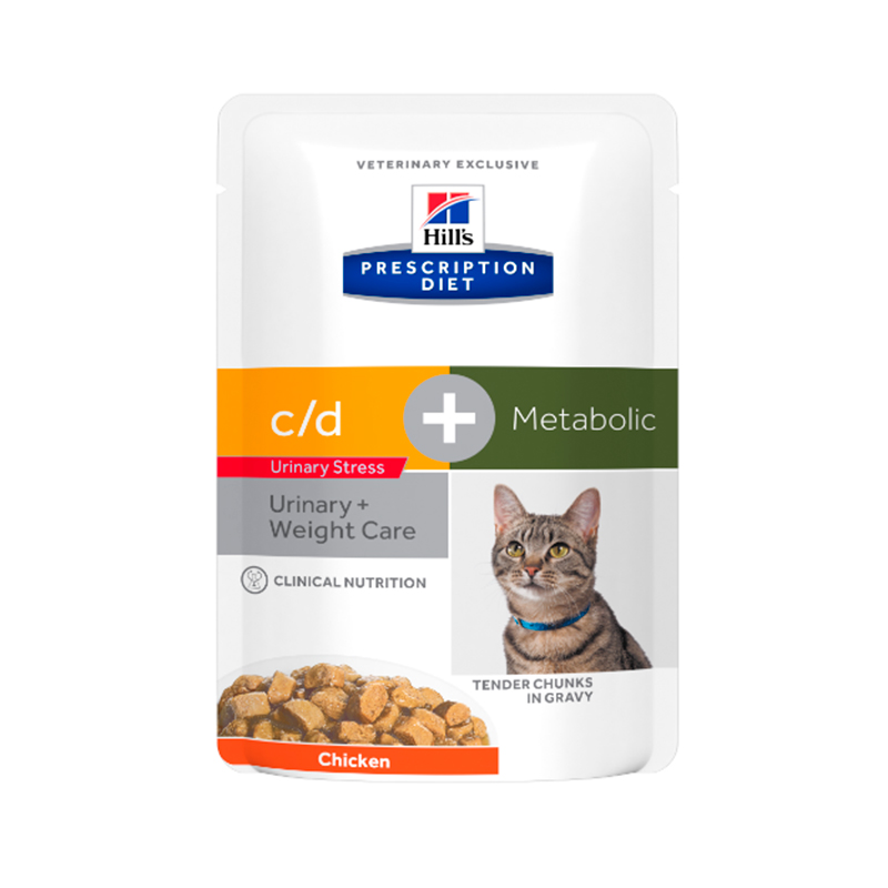 Hill's Feline Metabolic Plus Urinary Pouches 12 x 85gr