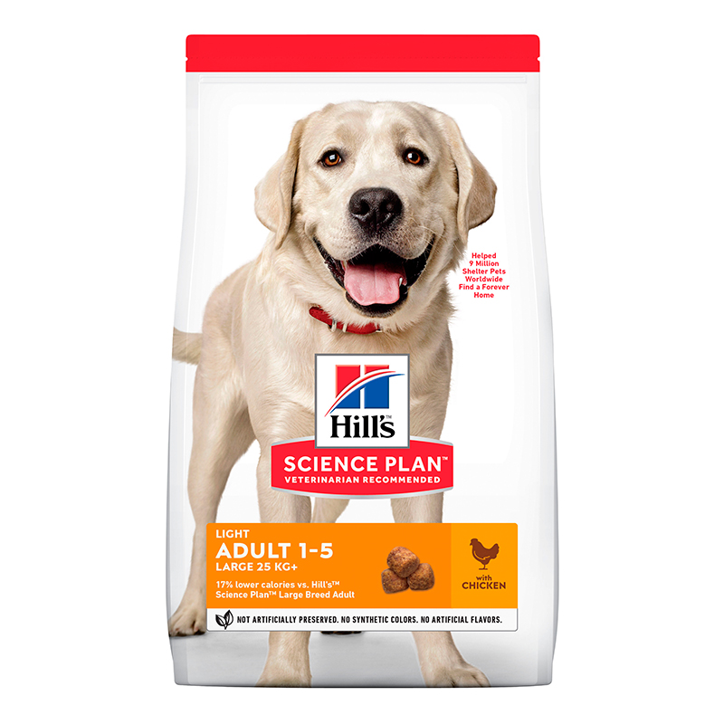 Hill's Razas Grandes Adulto Light con Pollo 12Kg