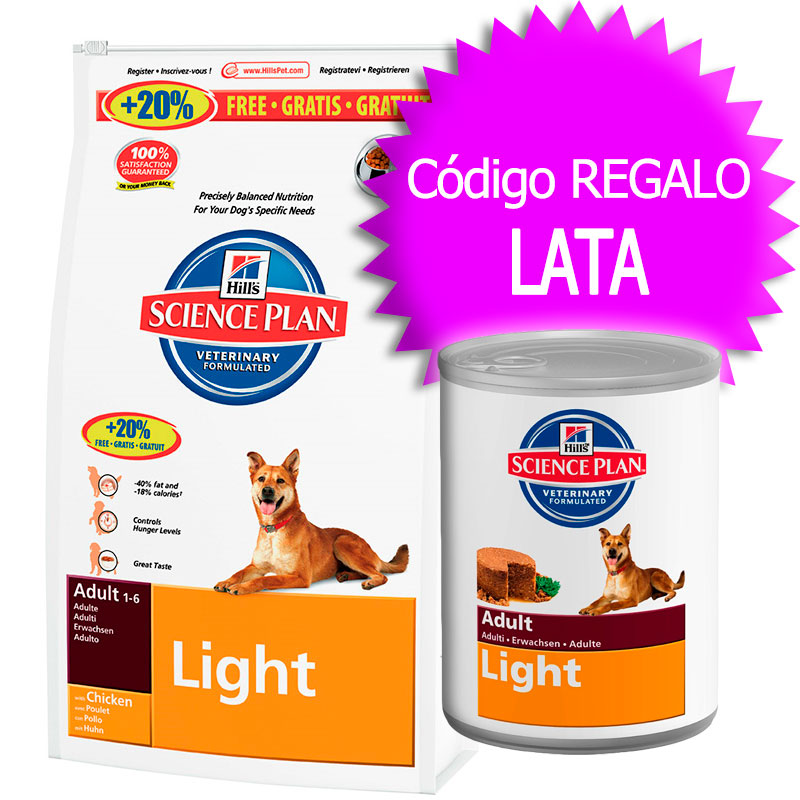 Hill's Medium Breed Adult Light with Chicken 12Kg+2.5Kg Free+Coupon