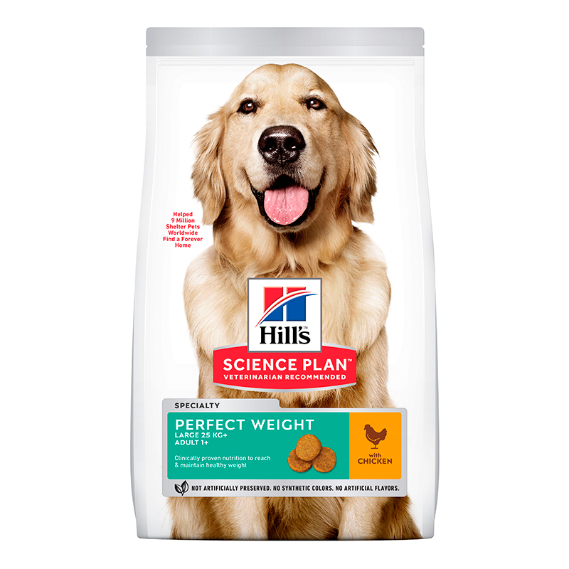 Hill's Razas Grandes Adulto Perfect Weight con Pollo 12kg