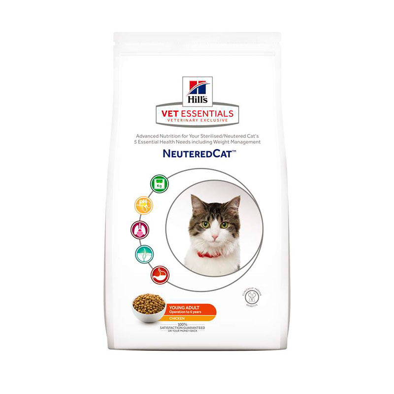 Hill's Vetessentials Feline Young Adult Neutered Cat con Pollo 8Kg