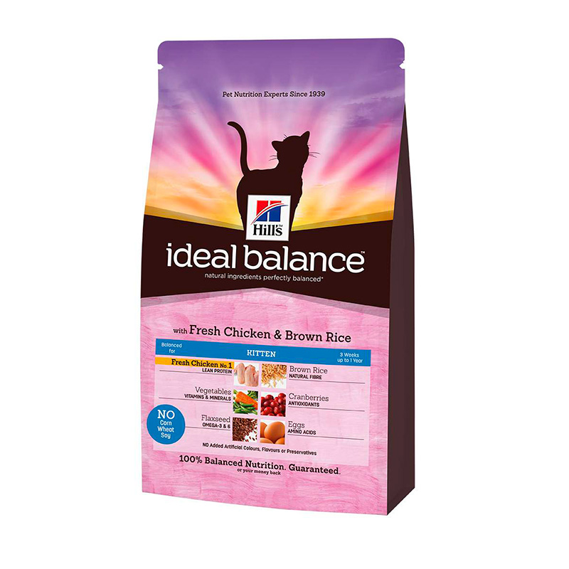 Hill's Ideal Balance Kitten with Chicken and Brown Rice 2kg