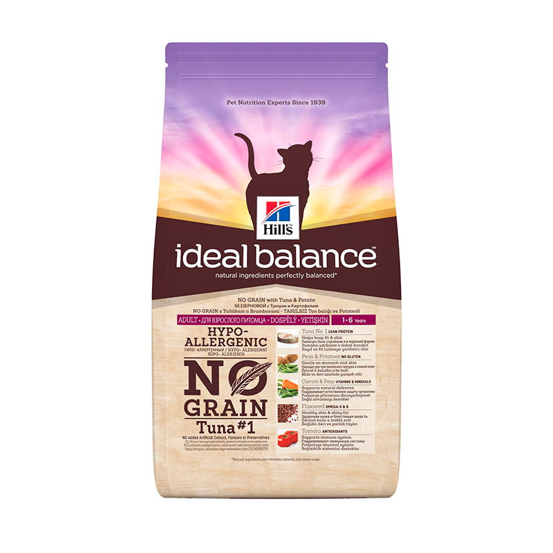 Hill's Ideal Balance Feline Adulto No Grain con Atún y Patata 2kg