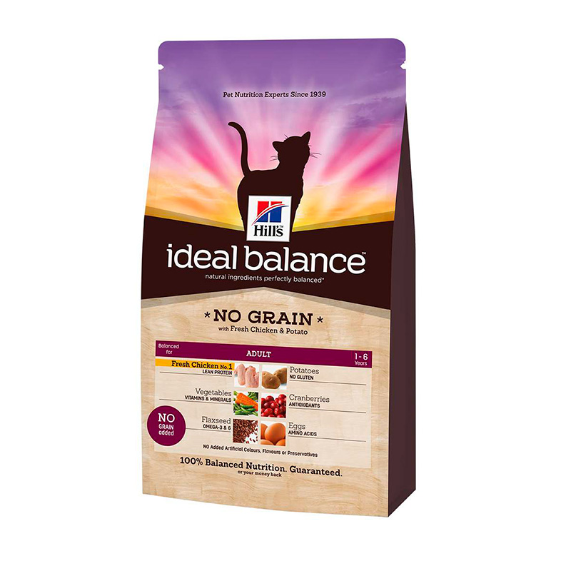 Hill's Ideal Balance Feline Adulto No Grain con Pollo y Patata 2kg