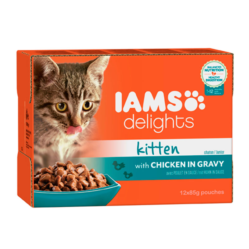 Iams Cat Wet Kitten Multibox in Gravy 12x85g
