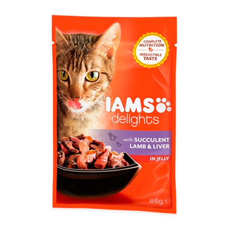Iams Cat Wet Lamb Liver in Jelly 85 gr