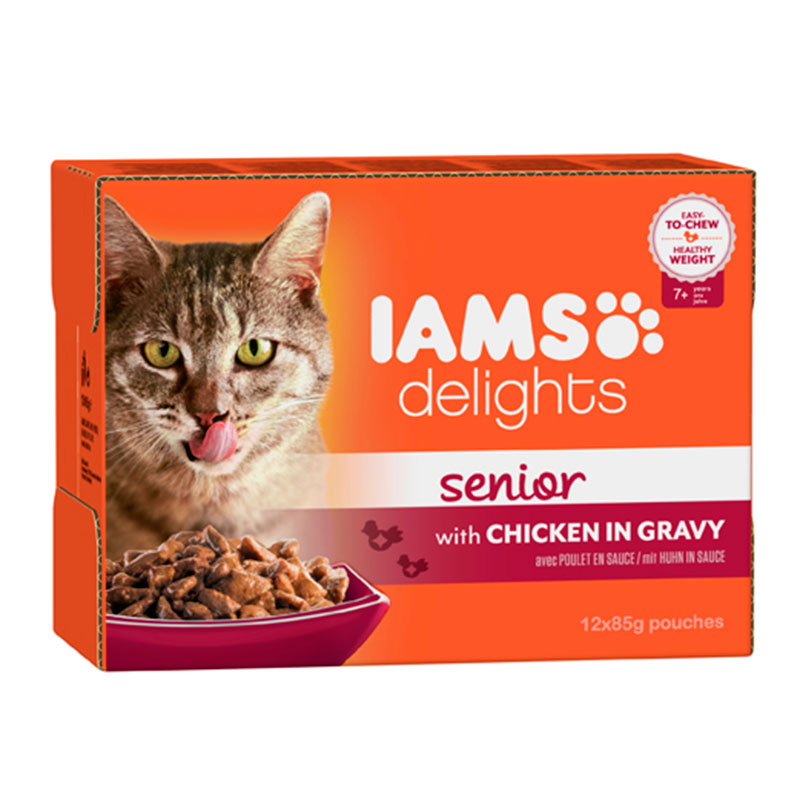 Iams Cat Wet Senior Multibox in Gravy 12x85g