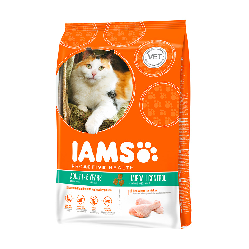Iams Cat Adult Hairball Control System