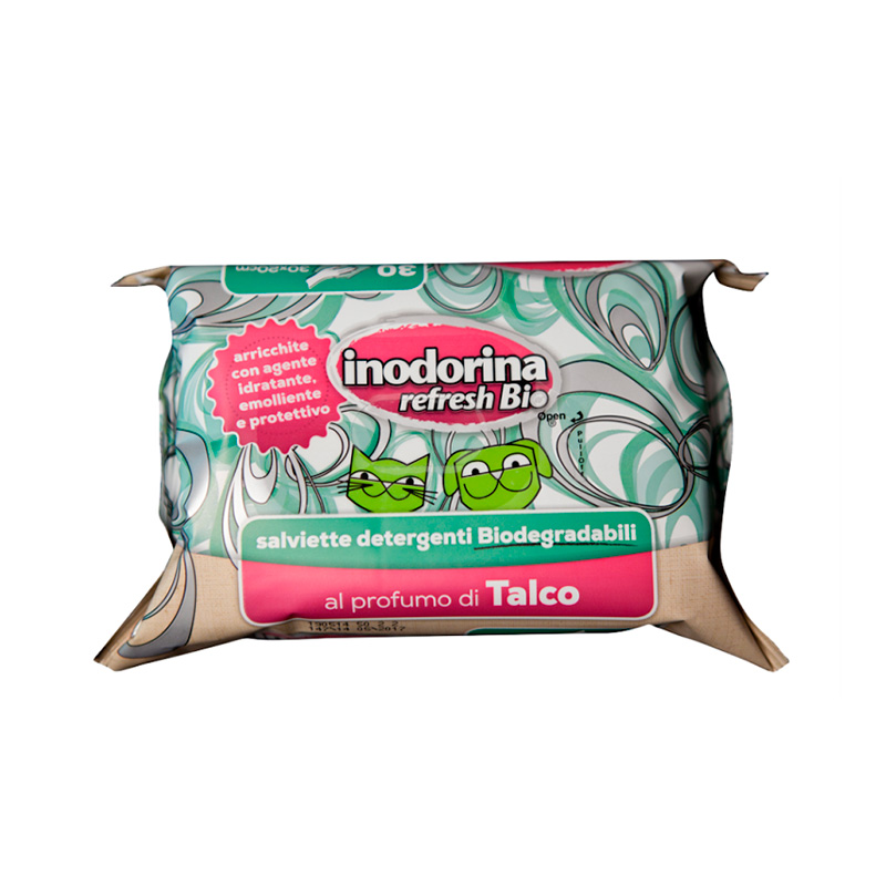 Hygienic Wipes Inodorina Refresh Bio Talc 30u
