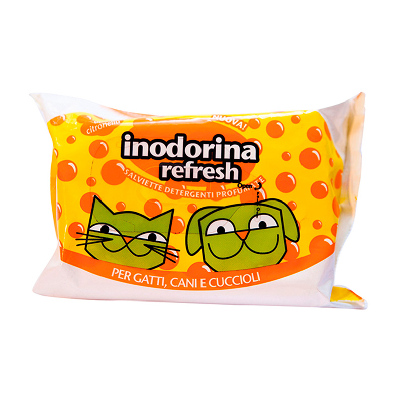 Hygienic Wipes Inodorina Refresh Citronella 40 u