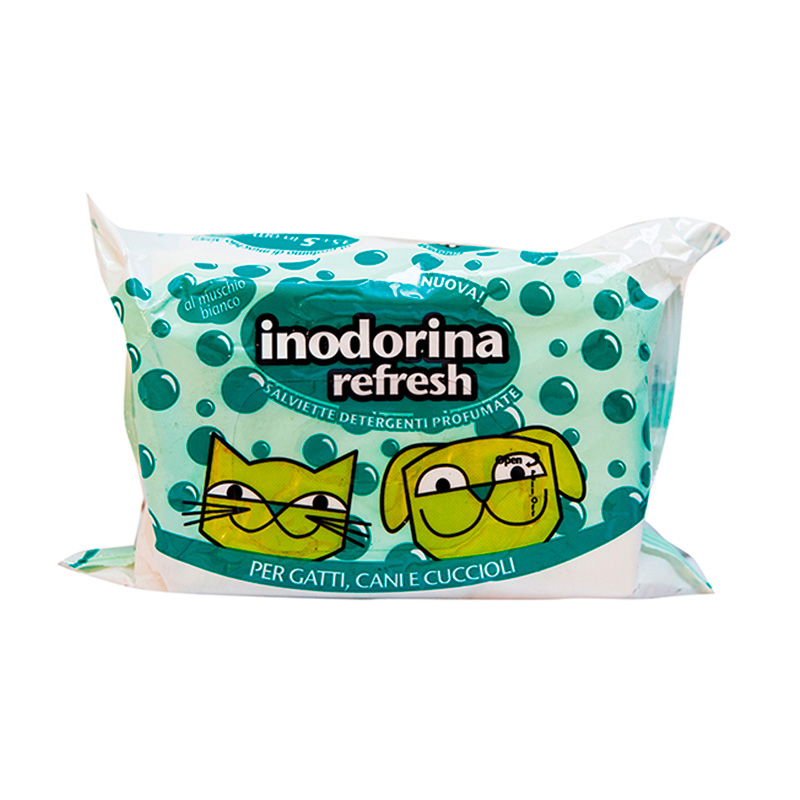 Hygienic Wipes Inodorina Refresh White Musk 40 u