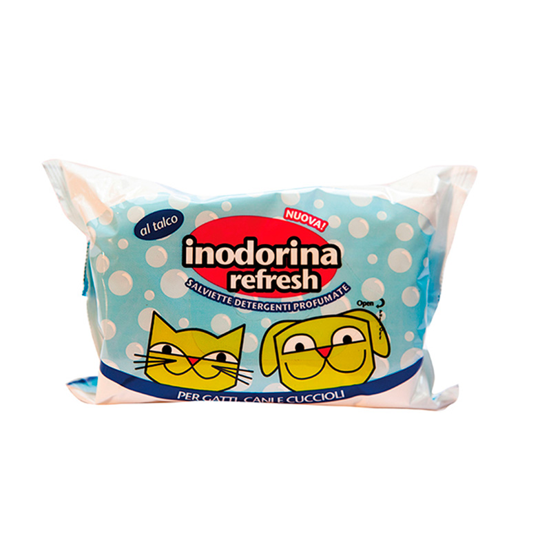Hygienic Wipes Inodorina Refresh Talc 40 u