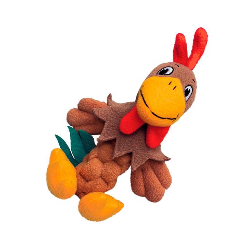 Kong Pudge Braidz Rooster Dog Toy