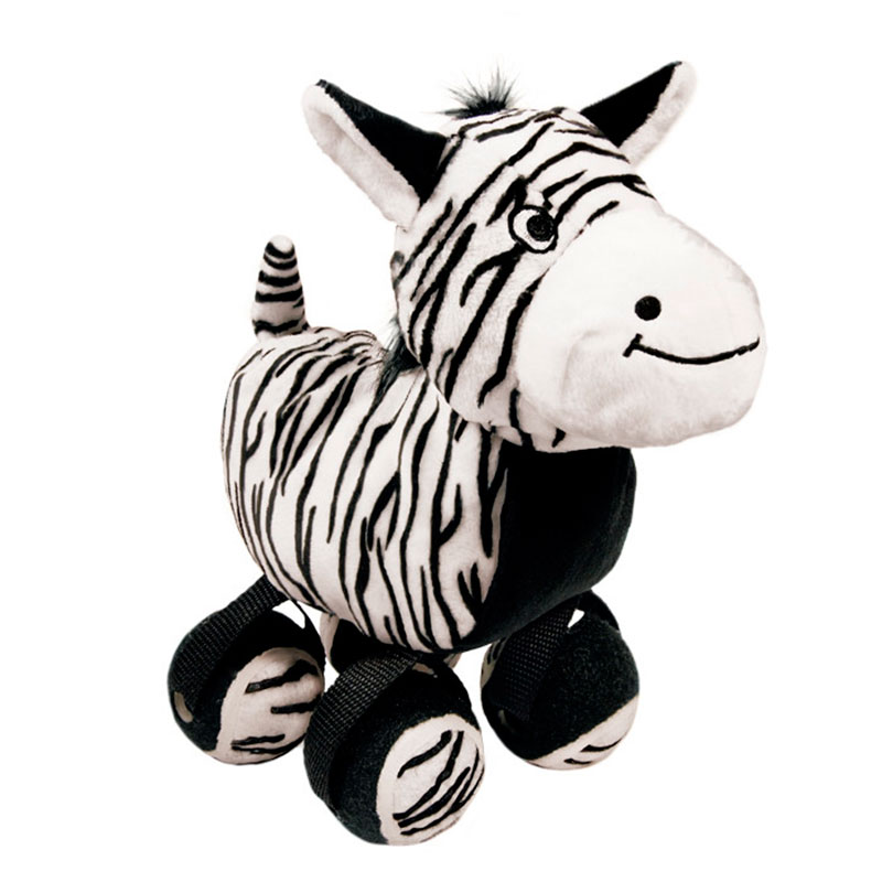 Kong Tennishoes Zebra Dog Toy