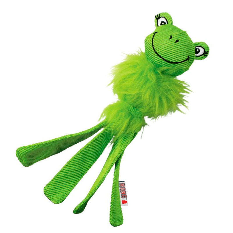Kong Wubba Friends Fuzzy Frog Dog Toy