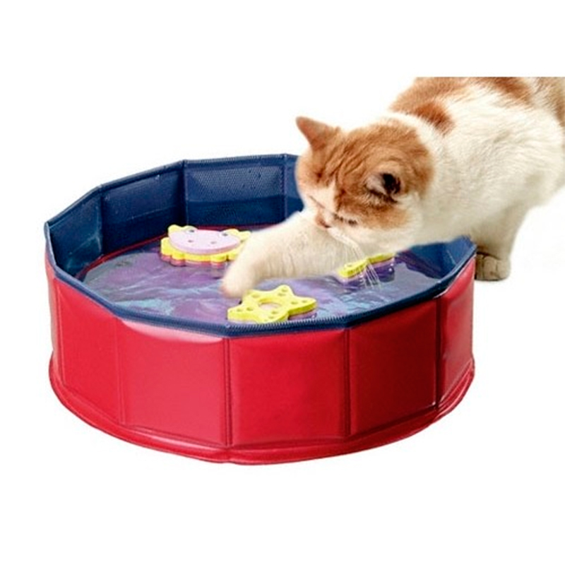 Kitty Lake Piscina para gatos con 3 juguetes