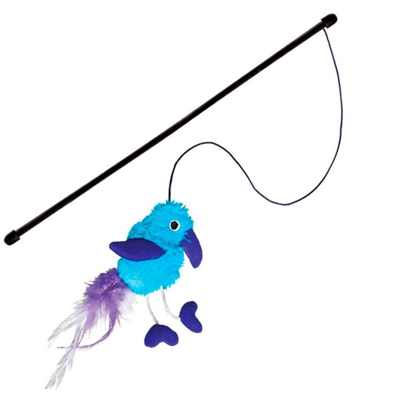 Kong Active Cat Feather Teaser Bluebird Toy
