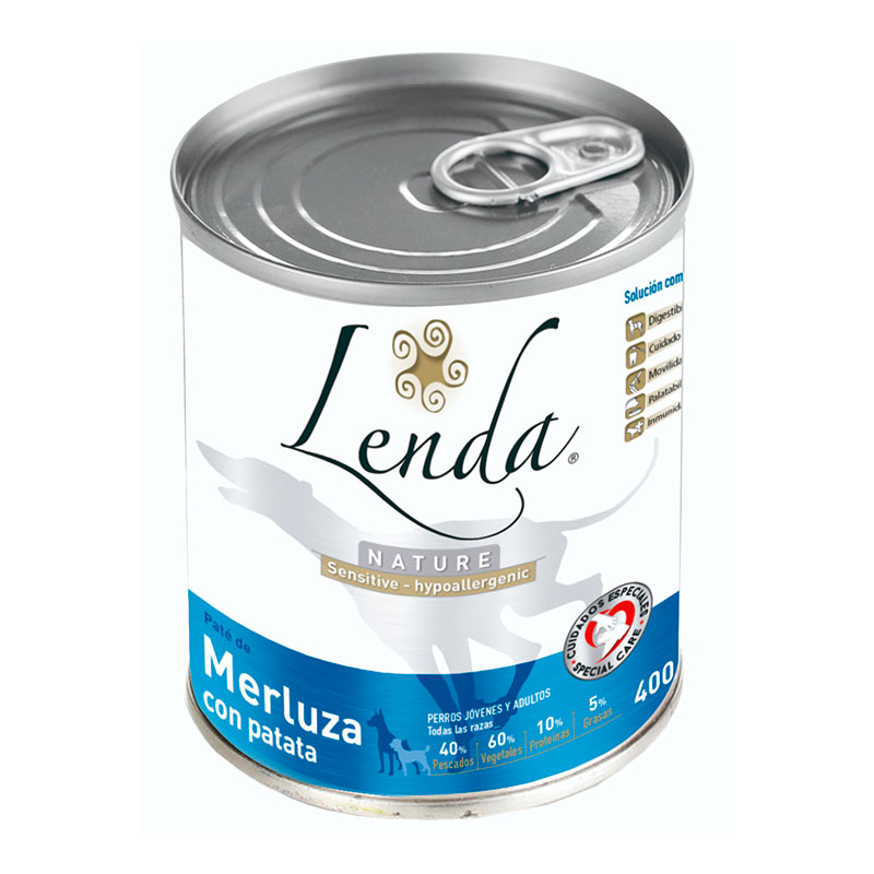 Lenda Nature Grain Free Lata Sensitive Merluza con Patata