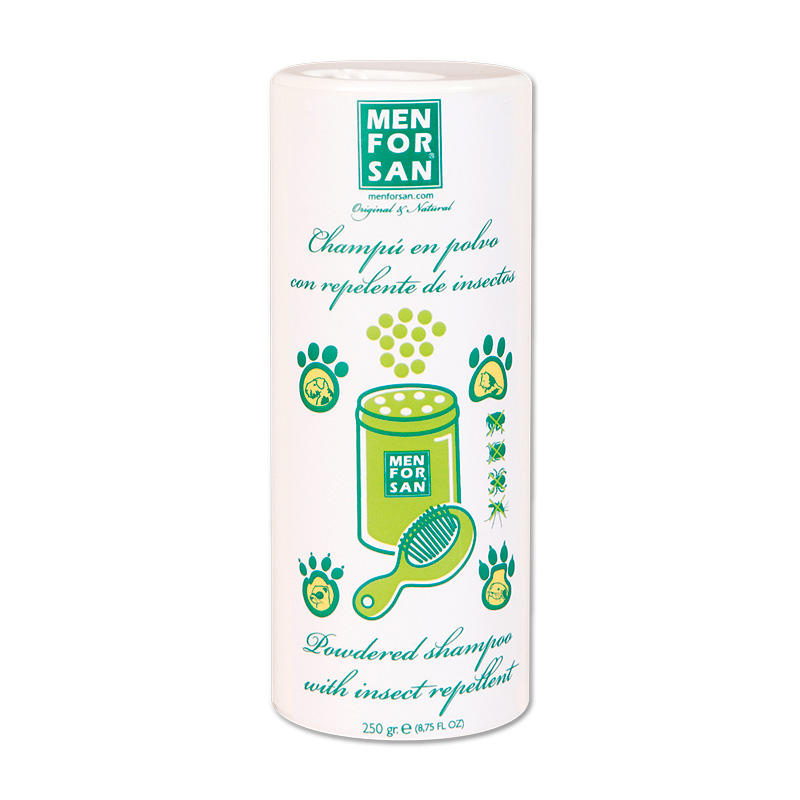 Menforsan Powder Shampoo with Insect Repellent for Dogs, Cats and Rodents 250g