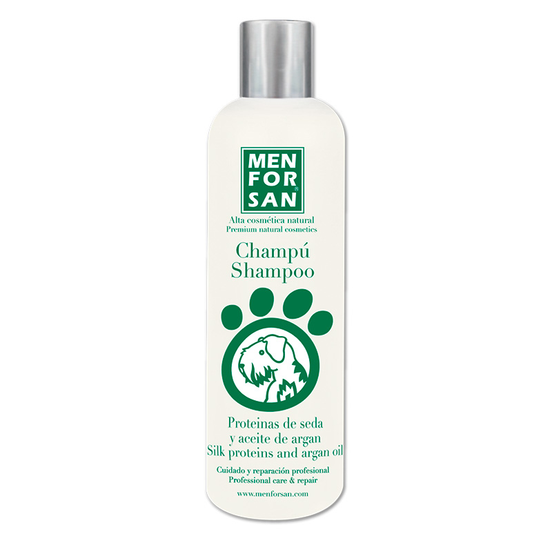 Menforsan Natural Professional Shampoo with Silk Proteins and Argan Oil 300ml