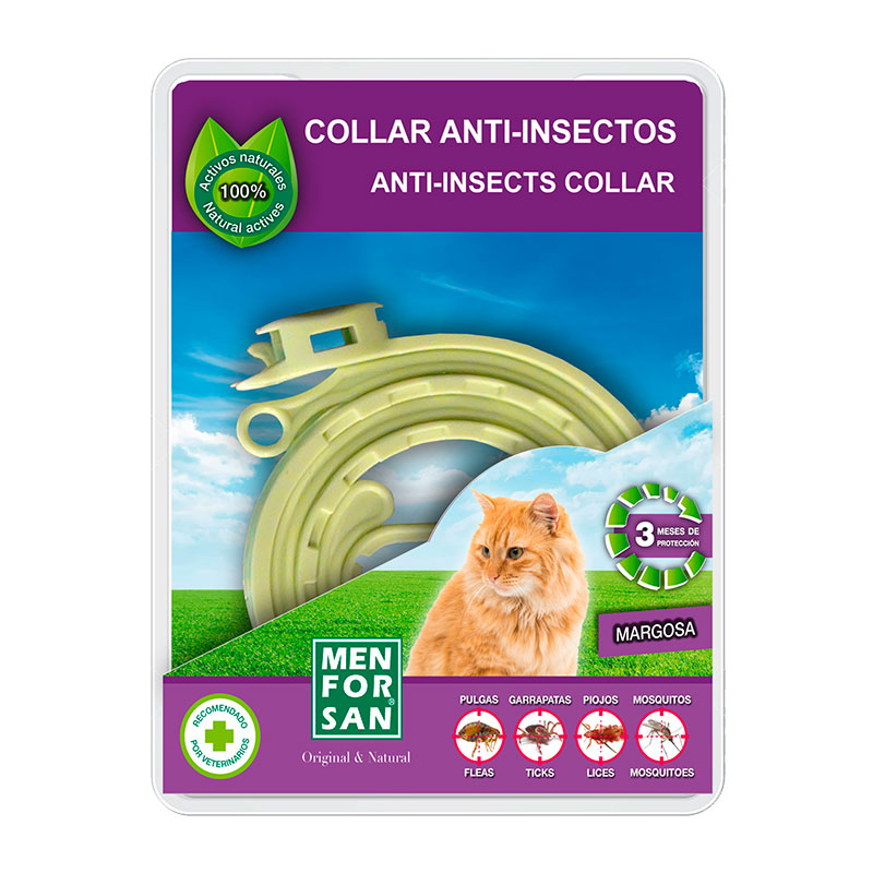 Menforsan Collar Anti-insectos Margosa Gatos