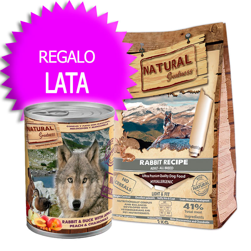 Natural Greatness Rabbit Recipe Light & Fit 12kg+Coupon