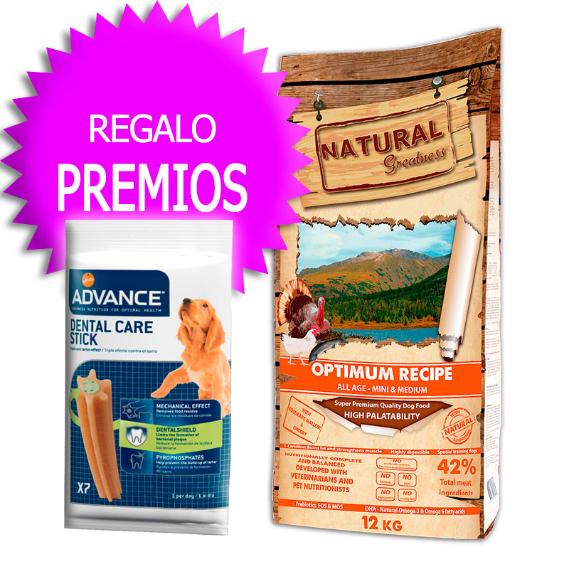 Natural Greatness Optimum Recipe Mini and Medium Breed 12Kg+Coupon