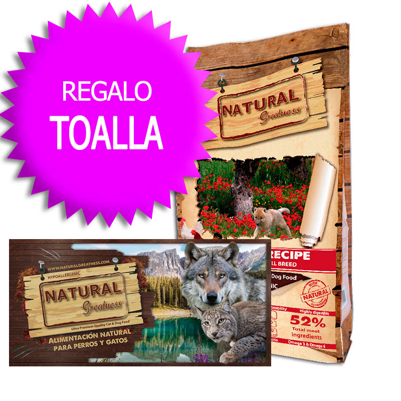 Natural Greatness Receta Pollo para Cachorros y Razas peque�as