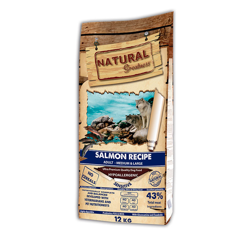 Natural Greatness Receta Salmón Sensitive Razas Medianas y Grandes